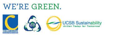 Collaborate, AS Recycling, and UCSB Sustainability logos.